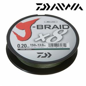 Pletená Šňůra Daiwa J-Braid 8 Tmavě Zelená 300m 0,20mm/13kg