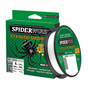 Pletená Šňůra Spiderwire Stealth Smooth12 Translucent 150m 0,23mm/23,6kg