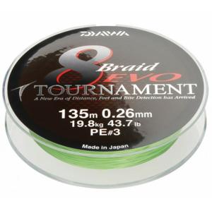 Pletená Šňůra Daiwa Tournament 8 Braid EVO 300m Chartreuse 0,18mm/15,8kg