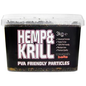 Munch Baits Nakládaný Partikl Hemp Krill 3kg