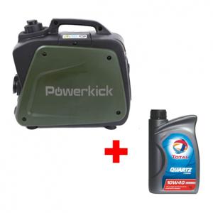 Elektrocentrála Powerkick Generator 800 + Olej Total 10W-40 1l
