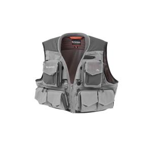 Muškařská Vesta Simms G3 Guide Vest Steel Šedá Velikost S