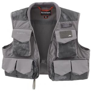 Muškařská Vesta Simms Freestone Vest Hex Flo Camo Carbon Velikost S