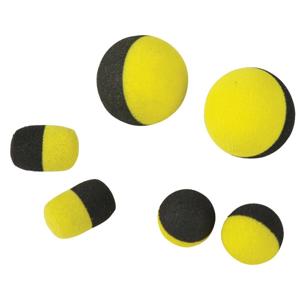 Pěnová Nástraha Carp Spirit Tac Tics Foam Baits 12ks Black Yellow