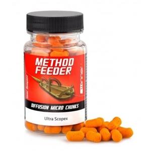 Plovoucí Nástraha Winner Method Feeder Diffusion Chunks 7x11mm 40gr Squid & Orange