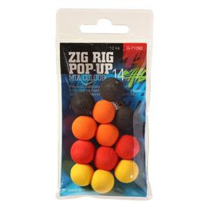 Pěnová Nástraha Giants Fishing Zig Rig Pop-Up Mix Color 14mm 12ks