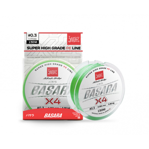 Splétaná Šňůra Lucky John Basara X4 Light Green 150m 0,194mm/13,9kg