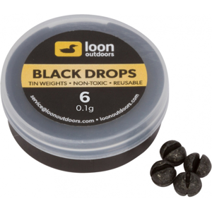 Zátěže Loon Outdoors Black Drop - Refill Tub Velikost BB - 0,4gr