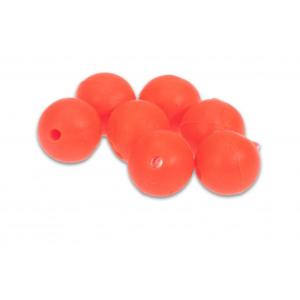 5ks - Korálky Aquantic Red Rubber Beads Průměr 12mm