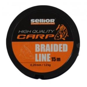 Návazcová Šňůra Sellior Braided Line 15m 0,28mm/22kg