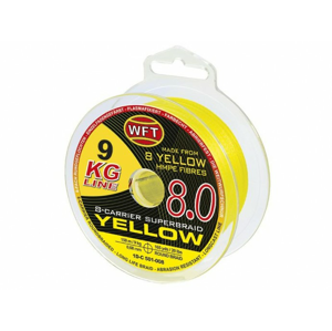 Šňůra WFT KG 8.0 600m Žlutá 0,26mm/34kg