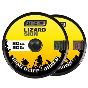 Návazcová Šňůra MAD Lizard Skin Semi Stiff Brown 20m 20lb
