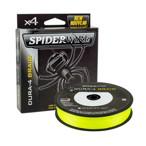 Šňůra Spiderwire Dura4 Yellow 150m 0,17mm/15,0kg
