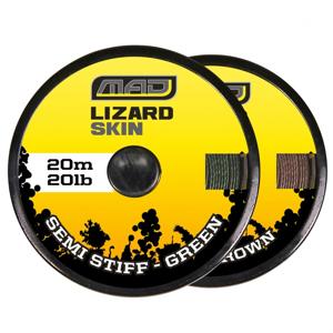 Návazcová Šňůra MAD Lizard Skin Semi Stiff Brown 20m 30lb