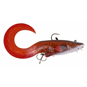 Gumová Nástraha Effzett Catfish Curl Tail 25cm 220gr BROWN