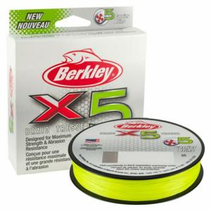Šňůra Berkley X5 Flame Green 150m 0,12mm 12,1kg