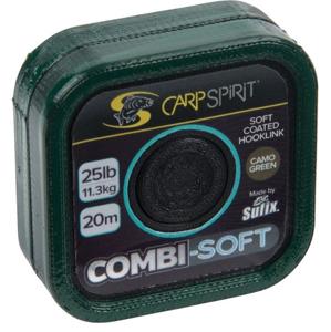 Šňůra Carp Spirit Combi Soft Coated Braid Camo Green 20m 35lb
