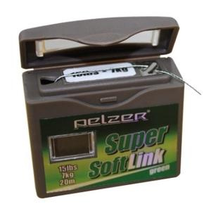 Návazcová Potápivá Šňůrka Pelzer Super Soft Link Dark Green 20m Nosnost 35lb