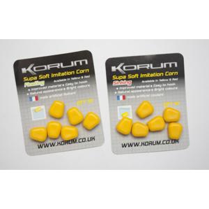 10ks - Gumová Nástraha Korum Supa Soft Imitation Corn Plovoucí Žlutá
