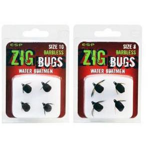 4ks - Nástraha ESP Zig Bug Barbless Velikost 10