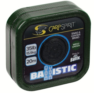 Pletená Šňůrka Carp Spirit Ballistic Braided Leader Camo Green 20m 35lb