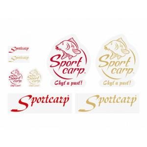 Samolepka Sportcarp Logo Chyť a Pusť Červená 222x290mm