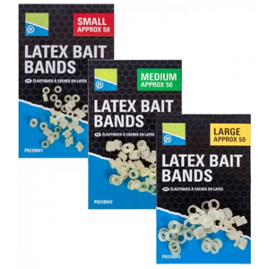 50ks - Gumové Kroužky Preston Latex Bait Bands Velikost L