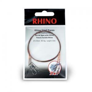 2ks - Ocelové Lanko Rhino Steel Trace Barrel Swivel + Safety Swivel 7x7 0,34mm