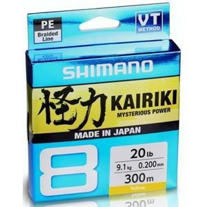 Splétaná Šňůra Shimano Kairiki 8 Yellow 150m 0,60mm/10,3kg