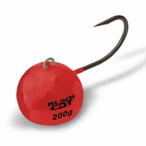 3ks - Jigová Hlavička Black Cat Fire-Ball Červená 6/0 160gr