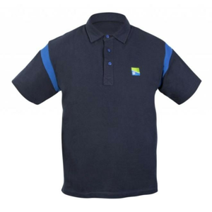 Tričko Preston Navy Polo Shirt Velikost L