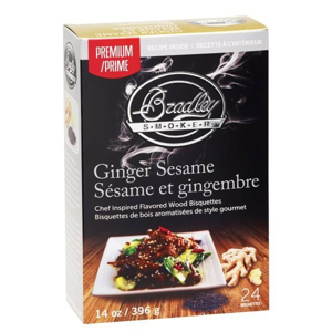 Udící Brikety Bradley Smokers Premium Ginger Sesame 48ks