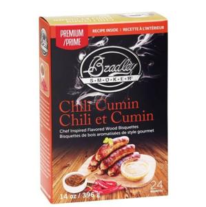 Udící Brikety Bradley Smokers Premium Chili Cumin 24ks