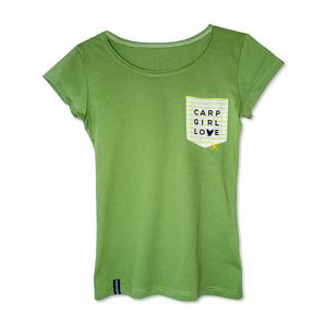 Tričko SEESEE T-Shirt Carp Girl Love Green Velikost M