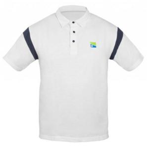 Tričko Preston White Polo Shirt Velikost XXL