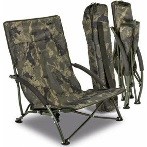 Křeslo Solar Undercover Camo Foldable Easy Chair - Low