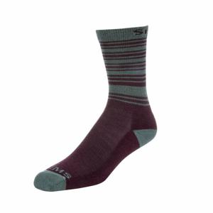 Dámské Ponožky Simms Merino Lightweight Hiker Sock Garnet Velikost M