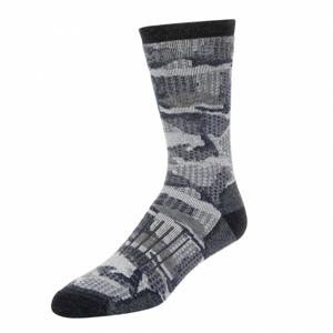 Dámské Ponožky Simms Merino Midweight Hiker Sock Hex Flo Camo Admiral Velikost M