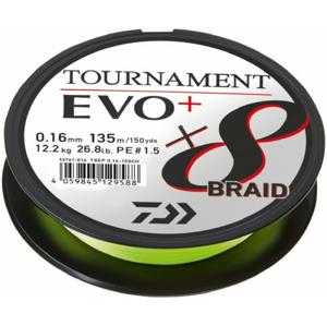Pletená Šňůra Daiwa Tournament X8 Braid Evo+ Chartreuse 135m 0,16mm 12,2kg