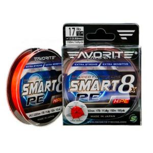 Pletená Šňůra Favorite Smart 8 PE Orange 150m 0,242mm 13,8kg