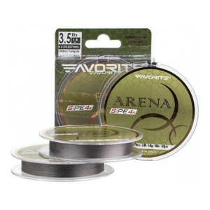 Pletená Šňůra Favorite Arena PE 4 Silver Grey 150m 0,076mm 2,1kg
