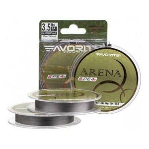 Pletená Šňůra Favorite Arena PE 4 Silver Grey 150m 0,104mm 3,5kg