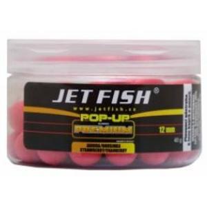 Plovoucí boilies jetfish pop-up 12mm jahoda/brusinka