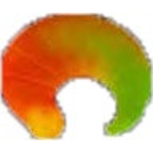 Larva iron trout coda 2,5cm 6ks žluto-oranžová