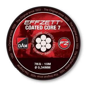 Návazcové Lanko DAM Effzett Coated Core7 10m Nosnost 7kg