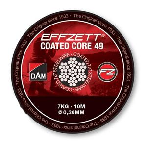 Návazcové Lanko DAM Effzett Coated Core49 10m Nosnost 7kg