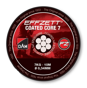 Návazcové Lanko DAM Effzett Coated Core7 10m Nosnost 24kg