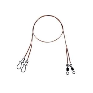 2ks - Ocelové Lanko Mistrall Wire Leaders 1x7 20kg 25cm