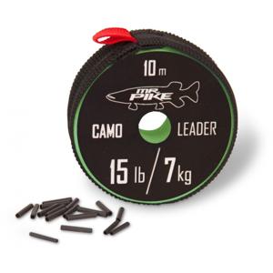 Návazcová Šňůra Quantum Mr. Pike Camo Coated Leader Material 10m Kamufláž Nosnost 7kg