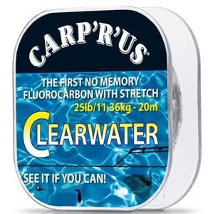 Návazcový Fluorocarbon Carp R Us Clearwater 20m 0,33mm/15lbs